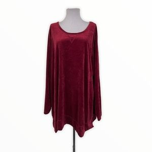 Woman Within NEW Pullover Sweater Blouse Burgundy